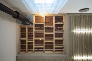 1층 거실 벽난로천정 바람마루